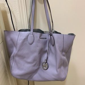 Lilac and Silver reversible Michael Kors Tote
